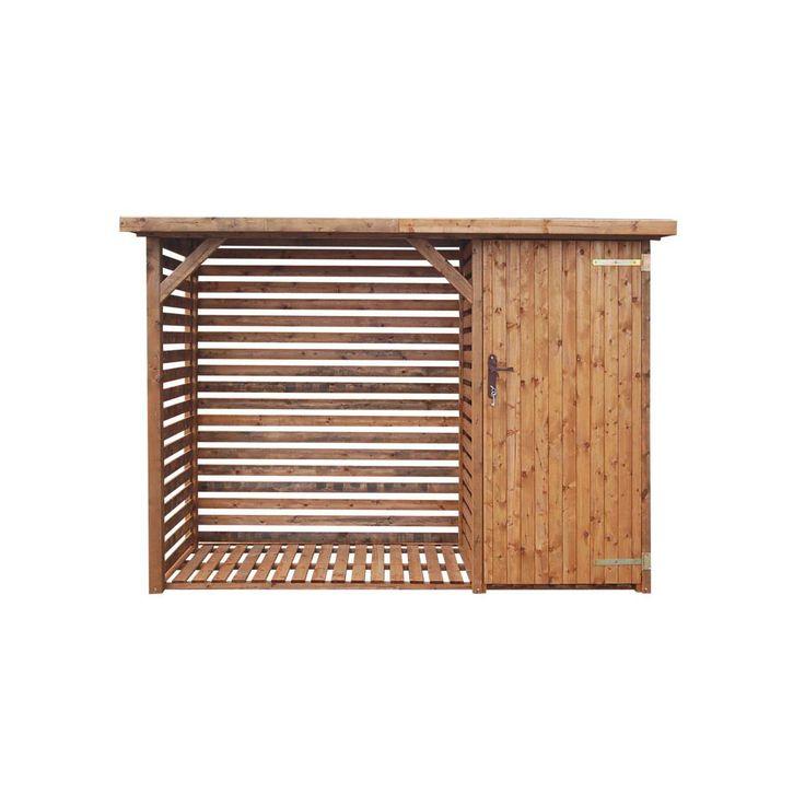 Holzunterstand mit Platz für Mülltonnen oder Gartengeräte