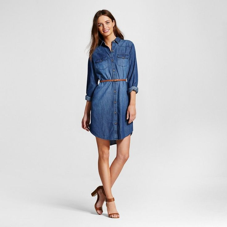 15 Must-see Womens Denim Shirt Dress Pins | Denim tunic, Plus size ...
