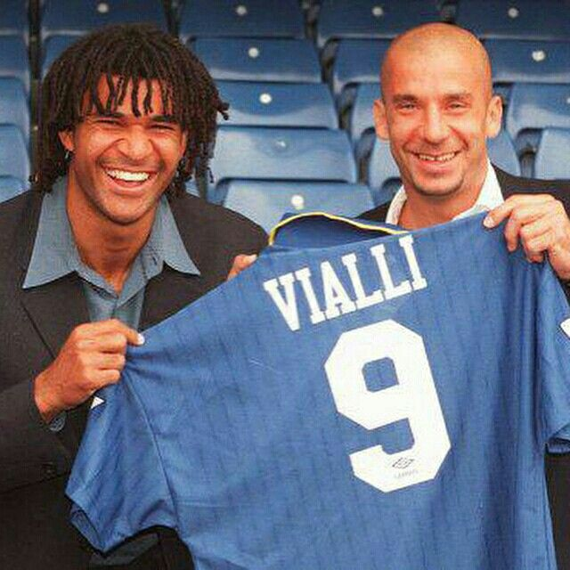 Ruud Gullit's presentation for Gianluca Vialli at Chelsea FC