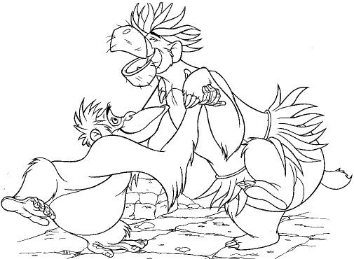 jungle book coloring pages - Disney Jungle Book Coloring Pages