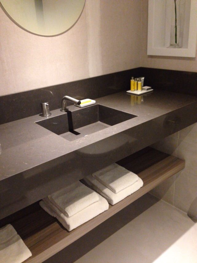 Modern inox bathroom taps by COCOON in Marriot Hotel Amsterdam | hotel  rooms design by Piet
