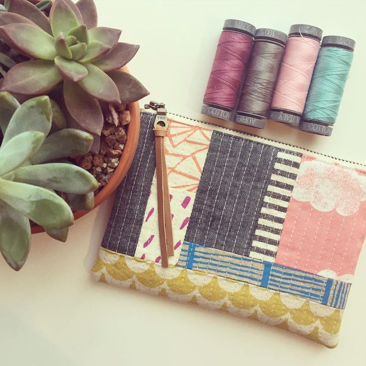 Patchwork pouches are my favorite