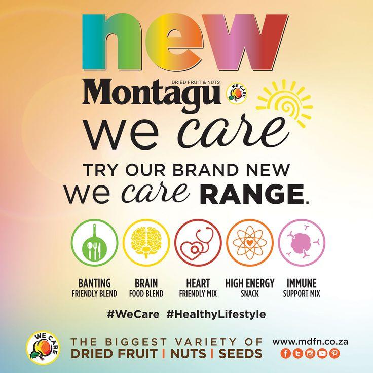Introducing our brand new lifestyle support products: the WeCare range!  This exciting range is now available in: - Banting Friendly Blend - Brain Food Blend - Heart Friendly Mix - High Energy Snack - Immune Support Mix  Our in-store teams can't wait to tell you all about them, and advise you on the one that will suit you best.   #WeCare | #HealthyLifestyle | #ActiveLifestyle