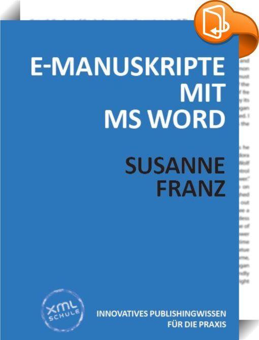 E-Manuskripte mit MS Word    ::  MS Word ist nach wie vor das Mittel der Wahl für die Texterfassung - und als E-Manuskript für die Datenübernahme in Satzsysteme sehr aktuell. Zunehmend wichtiger wird aber auch die fachgerechte Aufbereitung der Word-Dokumente für die Übernahme in das medienneutrale XML-Datenformat. Zu den Techniken, die dabei zum Einsatz kommen, gehört vor allem der professionelle Umgang mit Formatierungen und Formatvorlagen. Zusätzlich bereitet eine konsequente Anwendu...