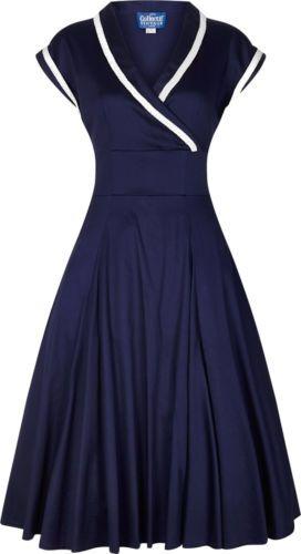 Collectif YOSHIMA Vintage 50s CROSSOVER Swing Dress KLEID Rockabilly