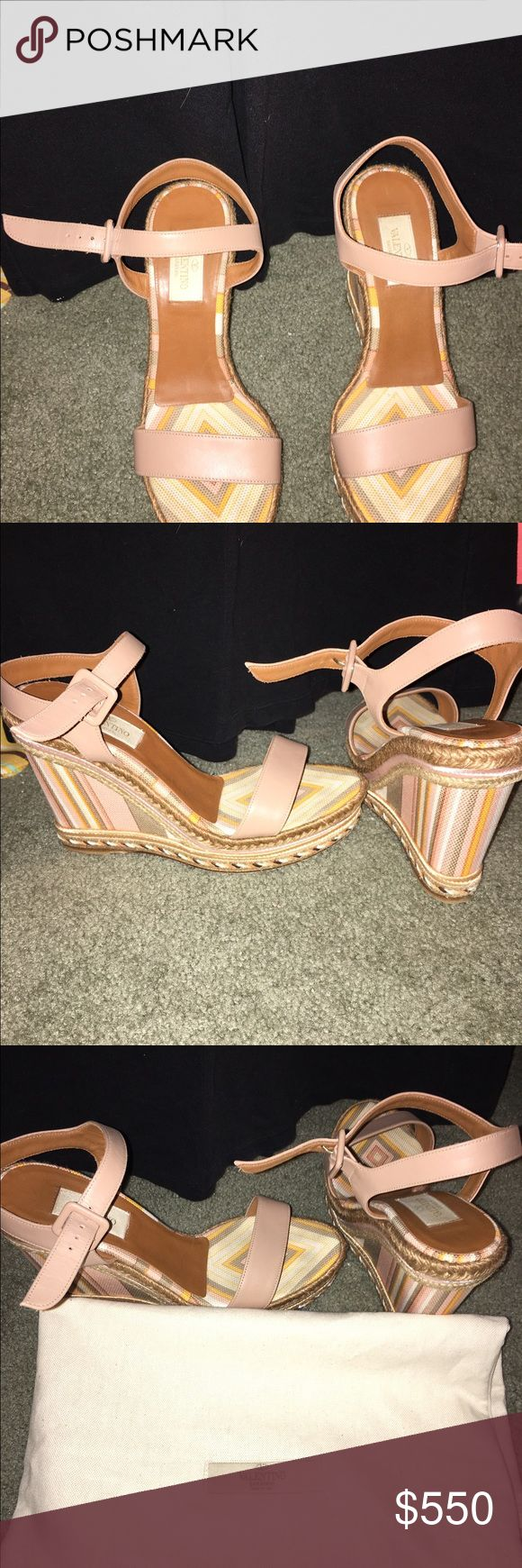 Valentino Wedges Gorgeous Valentino wedges in neutral colors Valentino Shoes Wedges