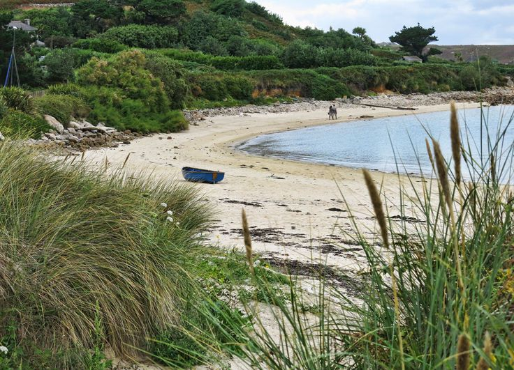 Beach on Bryher, Isles of Scilly - Bryher is the setting for The Wreck of The Zanzibar