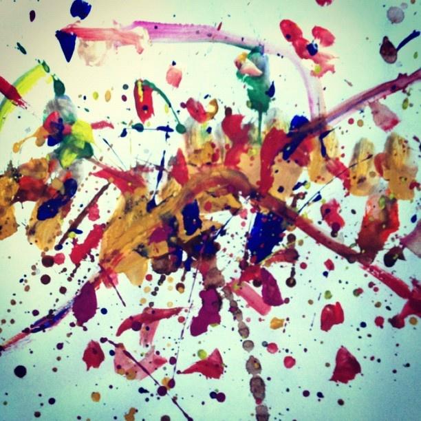 """I Am Jackson Pollock"" by Mia (5yr old free artist) - @justbeingarlyn- #webstagram"