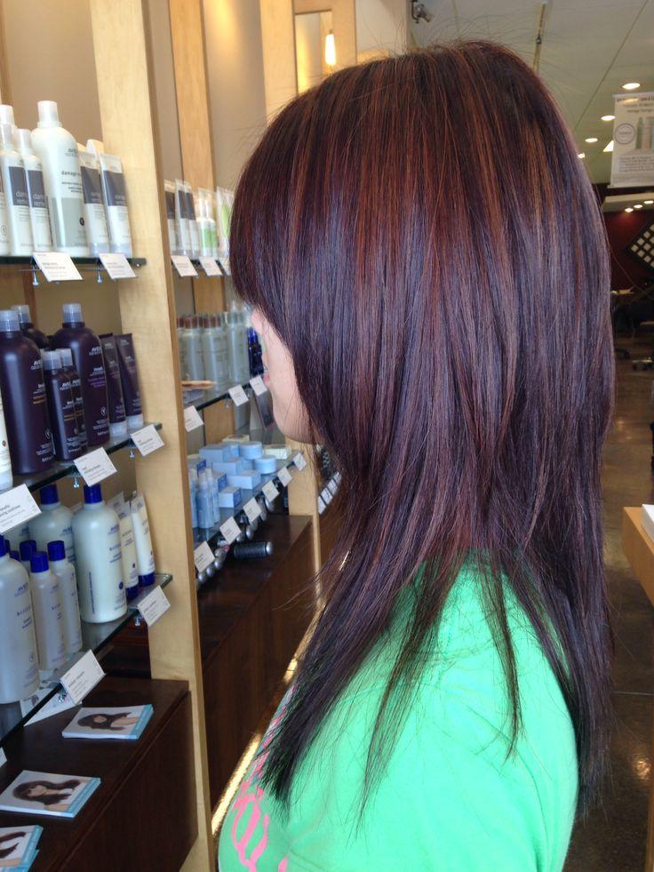 A Warm Brunette With Caramel Toned Medium Highlights Using Aveda Full Spectrum Deep And Hair Coloringavedaspectrumcaramelhair
