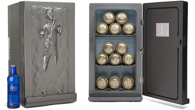 """Han Solo Frozen in Carbonite Mini Fridge: """"I'm Thirsty."""" """"I Know."""""""
