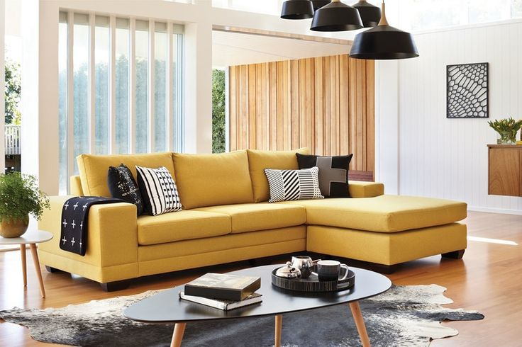 For an easy way to brighten up small living spaces, choose the comfortable and compact Martini 4 Seater Fabric Lounge Suite with Chaise.