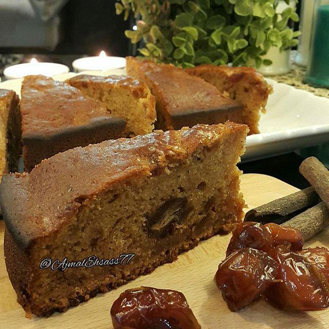 طريقة عمل كيكة التمر اللذيذه Delicious Date Cake Arabic Sweets Food Sweets Cake
