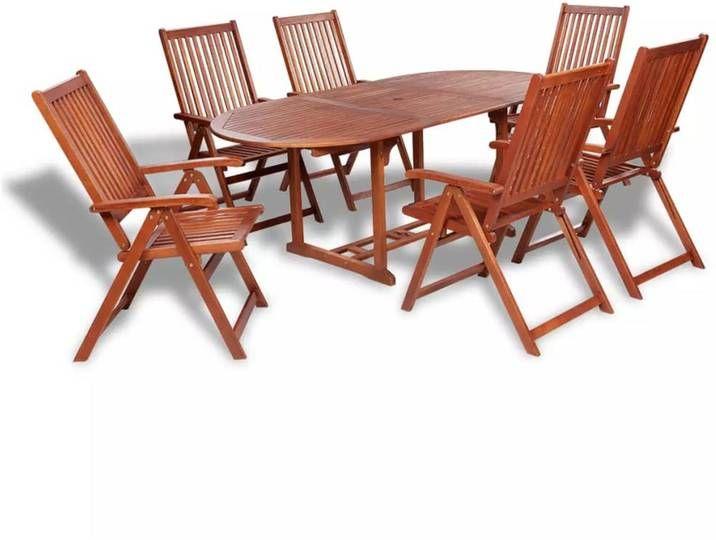 Vidaxl 7 Tlg Garten Essgruppe Massivholz Akazie Outdoor Chairs Outdoor Furniture Sets Outdoor Furniture