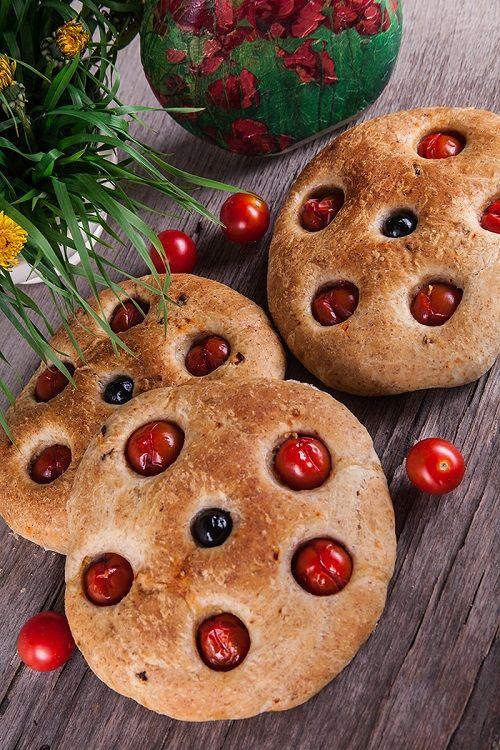 Лепешки с сушеными томатами из пшеничной муки с отрубями | Идеи для завтрака