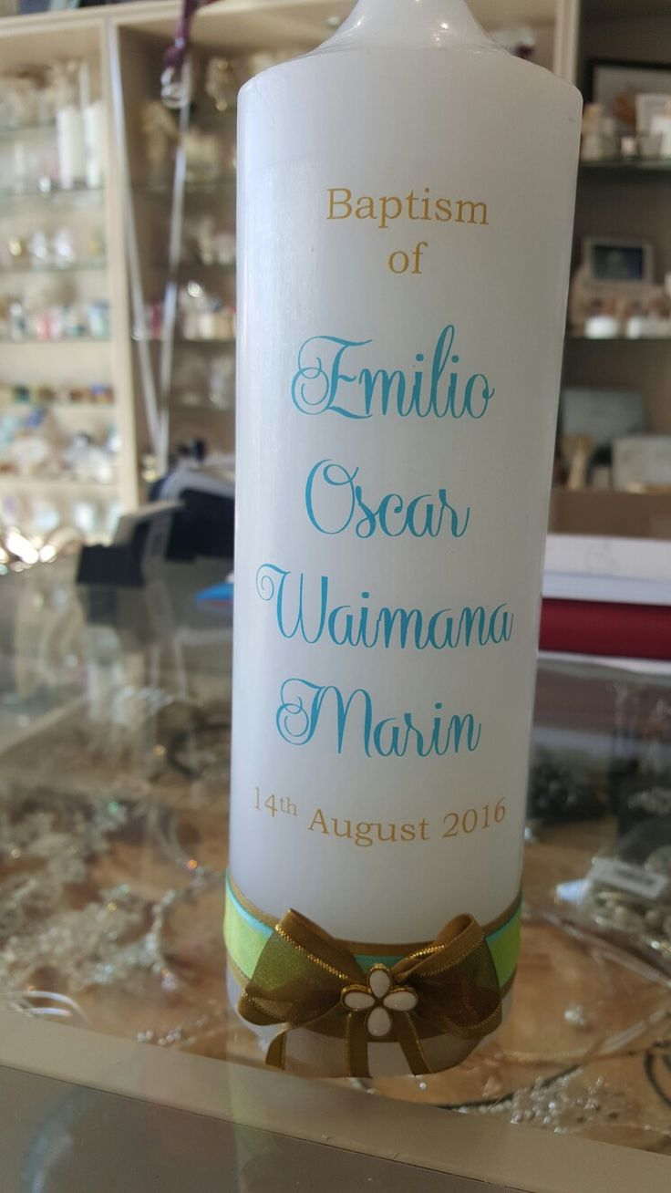 Christening candles