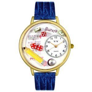 Whimsical Watches Unisex G0430010 Bunco Royal Blue Leather Watch Whimsical Watches. $40.99
