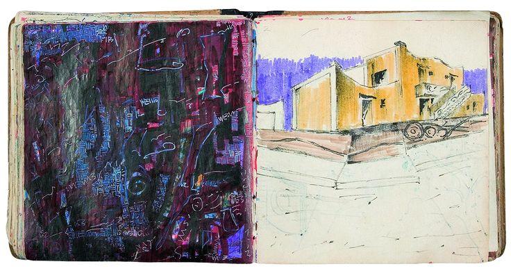 Yiğit Yazıcı art 1990-1992 Sketch Books drawing