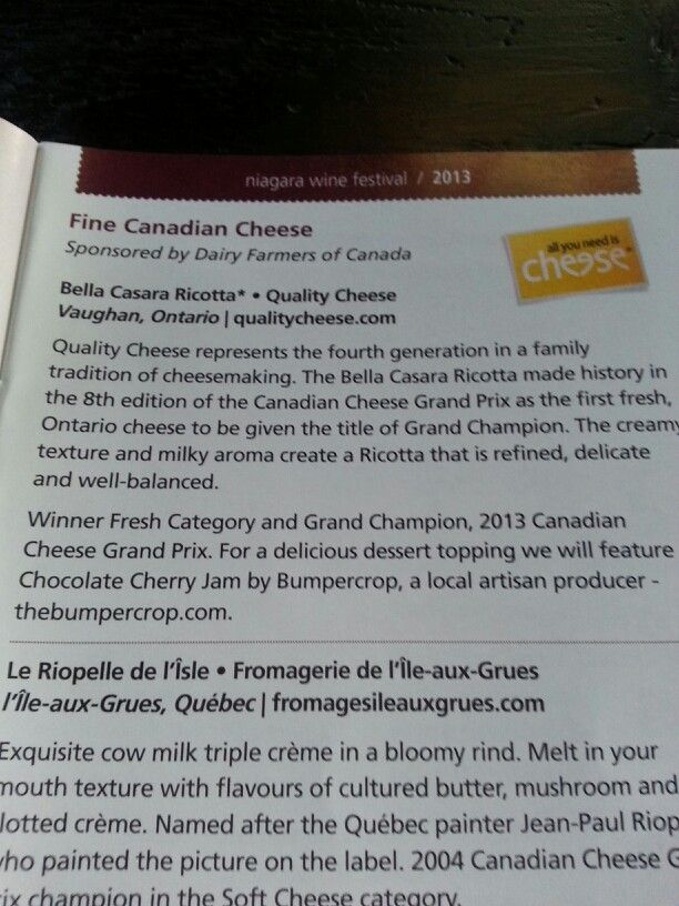 We love the support we get from the Dairy Farmers of Canada. Here we visit the Niagara Wine Festival.
