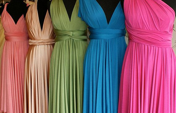 Multi-color Convertable Dresses  (#Convertable #Dress)