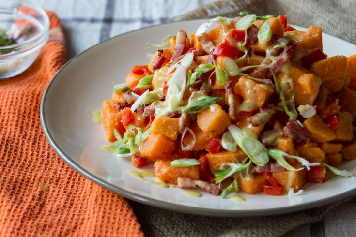Sweet Potato Salad by Akis. Simple and authentic recipe for sweet potatoes with vegetables. Flavour the sweet potatoes with rich spices. You can store the salad in the refrigerator for up to 2 days.