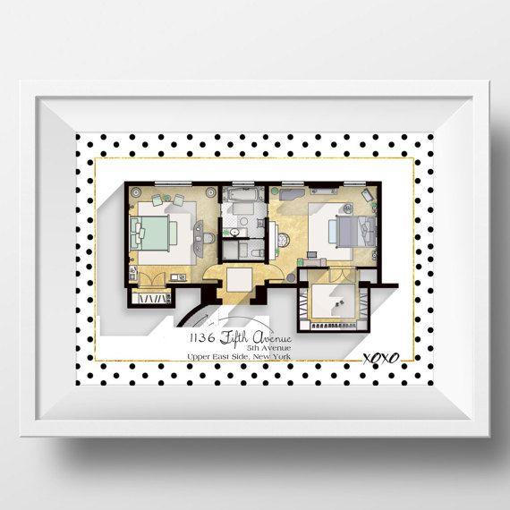 Deze plattegrond is van de iconische Gossip Girl serie en functies Blair Waldorf en Serena Van der Woodsen slaapkamer nauwkeurig. Het beschikt over hun prachtige slaapkamers samen met hun wandeling in kasten en hun Jack and Jill badkamer. Dit stuk is een glamoureuze gesprek starter en is een must voor Gossip Girl Fans hebben.  * FRAME NIET INBEGREPEN EN UW DRUKWERK ZAL NIET HEBBEN GEEN DRAWHOUSE-LOGO OP.  Deze print is weergegeven uit een origineel en vakkundig hand-opgesteld tekening en…