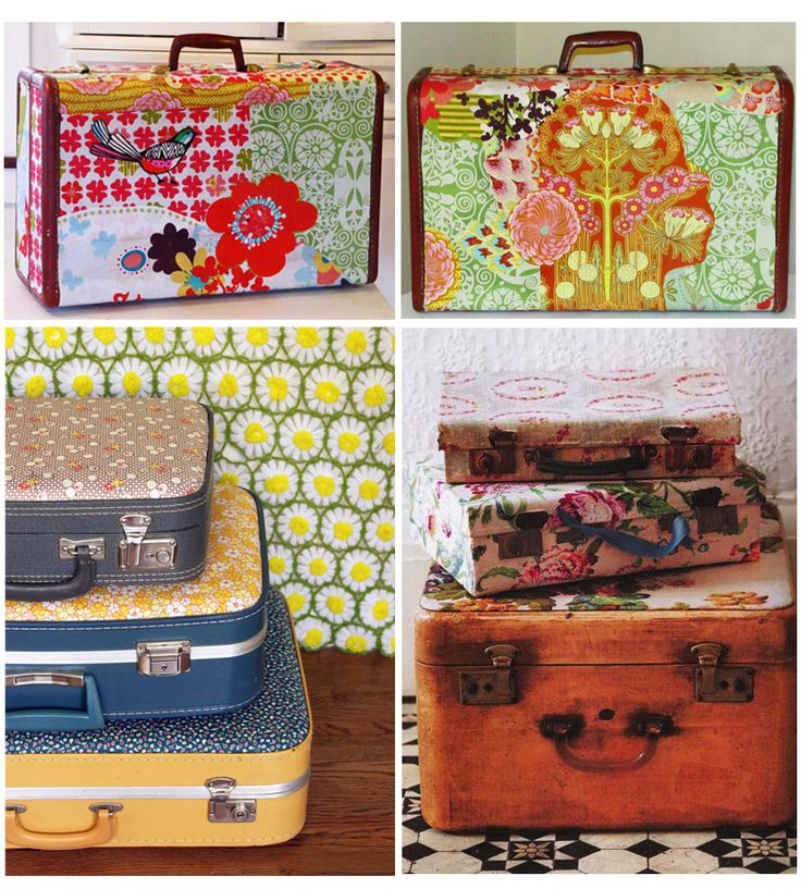 430 best Painted Luggage Ideas images on Pinterest | Vintage ...