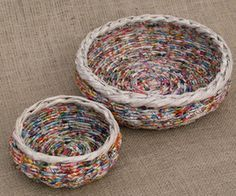 More newspaper basket weaving ideas