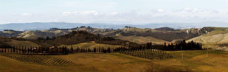 Senza indebiti paragoni mi ricorda il Buongoverno del Lorenzetti. I love crete senesi.