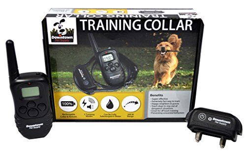 Rechargeable Remote Control Dog Training Collar, with Vibration, Shock & Tone Settings. Waterproof, Submersible, Safe for Behavior, No Jump, No Bark, Sport, Obedience, & Hunting Training with Remote Management up to 900+ feet, By Downtown Pet Supply