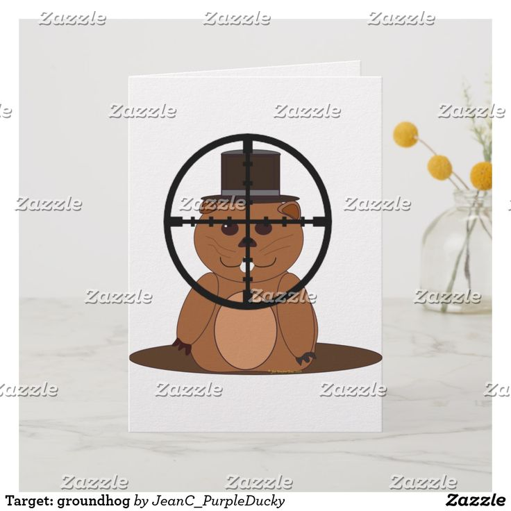 Target: Groundhog Holiday Card