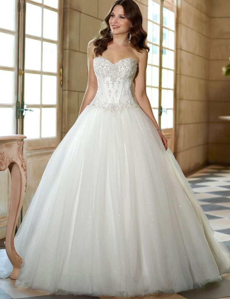 Corset Sweetheart Tulle A-line Bridal Gown - My Wedding Ideas