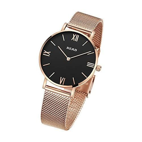 Read Reloj Para Mujer Reloj De Cuarzo Marca De Fábrica Superior Relojes De Pulsera Ultrafinos Gold Black Reloj De Cuarzo Reloj De Pulsera Reloj Pulsera