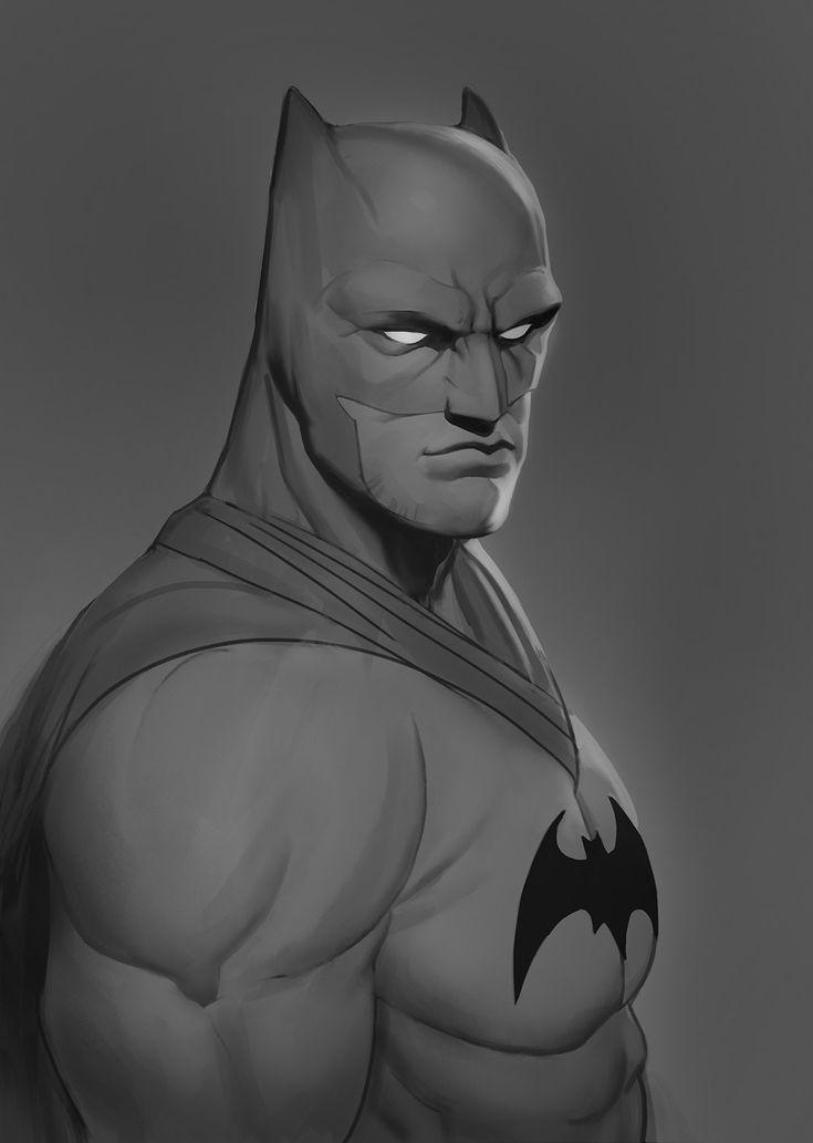 Batman Study, Paweł Fotek on ArtStation at https://www.artstation.com/artwork/eNbw3