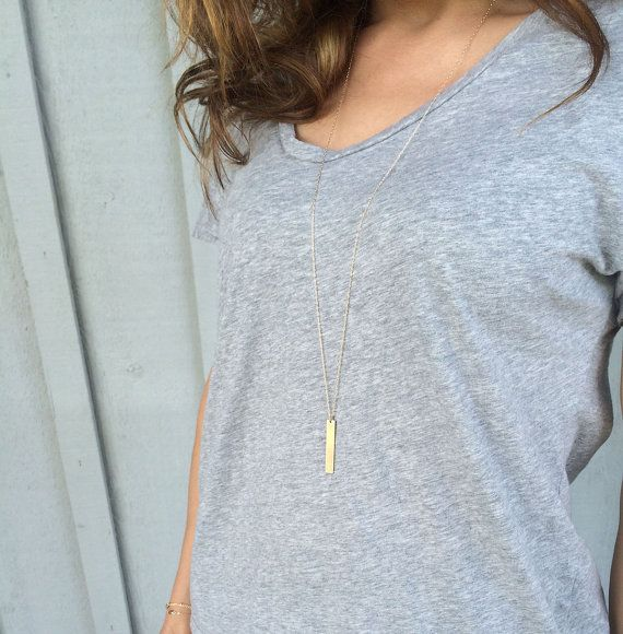 Long Necklace Gold Silver Rose Gold / Layered by LayeredAndLong