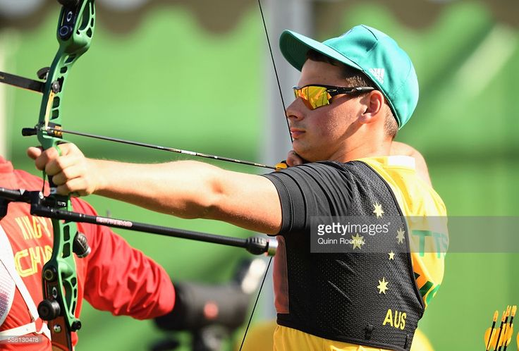 Alec Potts of Australia competes during the Men's Individual Ranking Round on…