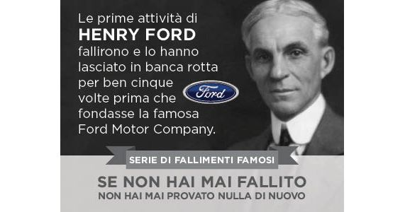 """Le prime attività di HENRY FORD fallirono e lo lasciarono in bancarotta per ben cinque volte prima che fondasse la famosa Ford Motor Company.  Non cambierai il momento in cui sei nato, dove sei nato, come sei nato o da chi sei nato. In realtà, non cambierai nemmeno un bisbiglio che ha avuto lugo negli """"ieri"""" della tua vita. Il """"domani"""" è un'altra questione.  Indipendentemente dal passato, il tuo domani è una tabula rasa.  ACCETTA LA MIA SFIDA  #sfida #viviiltuosogno"""