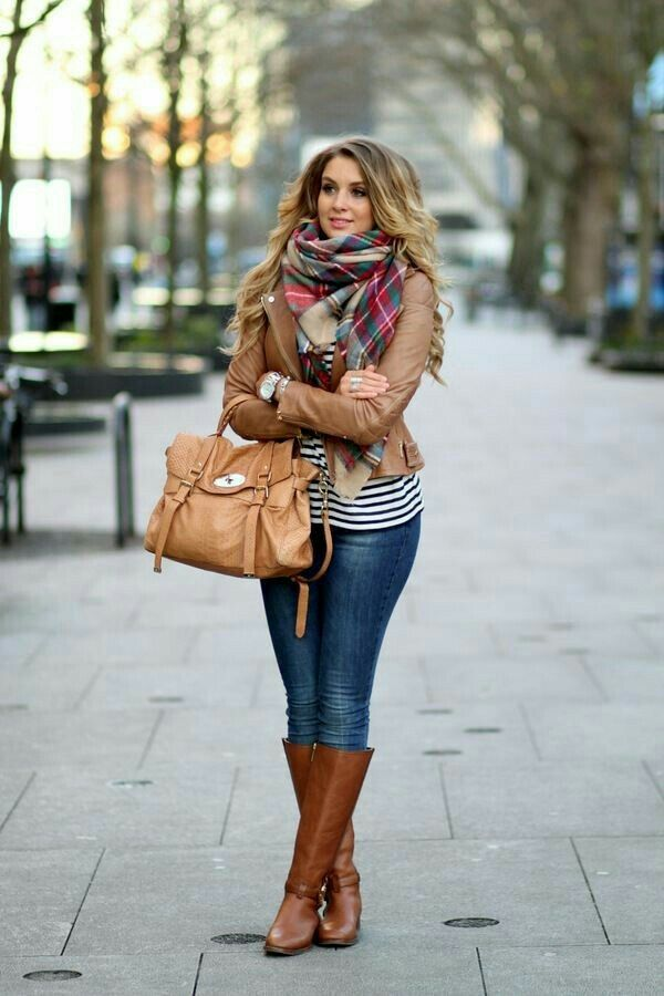 Flannel, stripes and boots