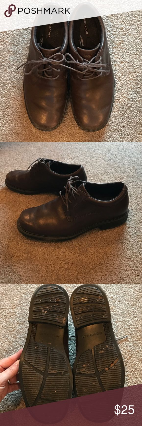 Rockport leather men's brown loafers size 7.5 Brown leather loafers by Rockport size 7 1/2. Great condition Rockport Shoes Loafers & Slip-Ons