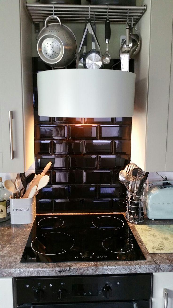 Ikea extractor fan, subway tiles & ceramic hob
