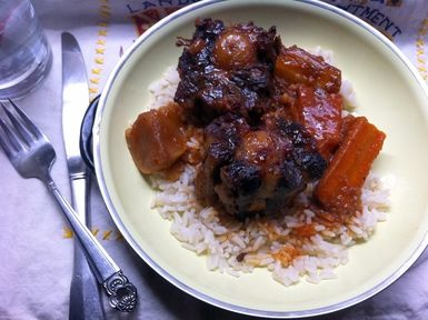 Soul food braised oxtail recipe besto blog soul food braised oxtails recipe with carrots parsnips and turnips forumfinder Image collections