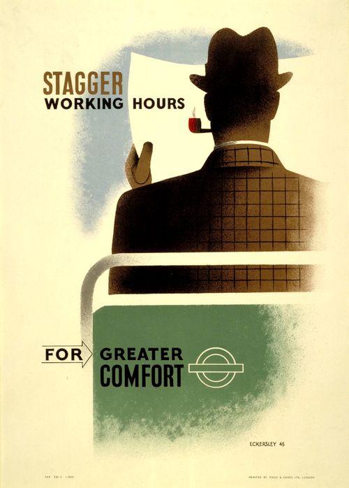 London Transport poster 1945,Tom Eckersley