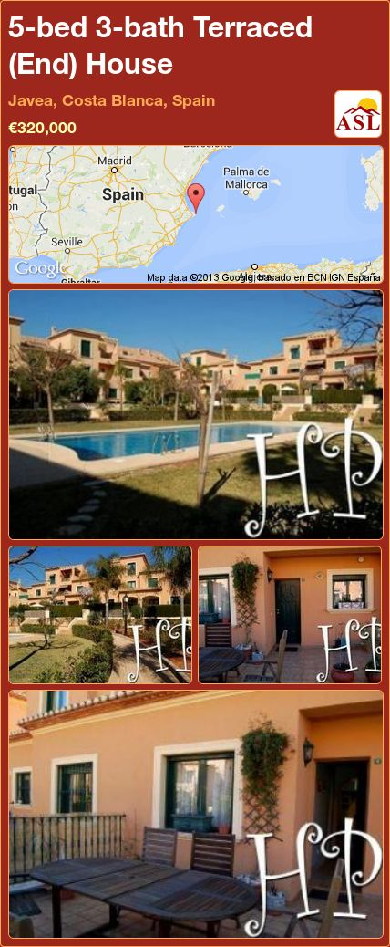 5-bed 3-bath Terraced (End) House in Javea, Costa Blanca, Spain ►€320,000 #PropertyForSaleInSpain