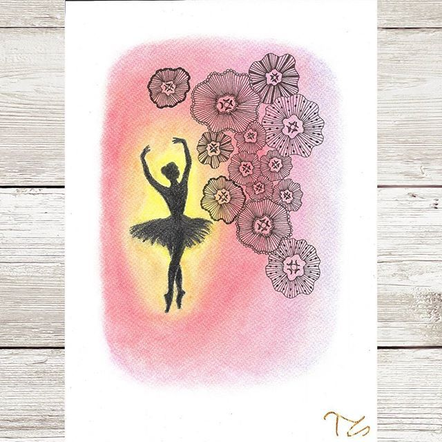 #art #myart #drawing #drawings #mydrawing #graphite #pastell #zentangle #colours #instaarts #ballet #balletdancer #ballerina #dance #graceful #gracefully