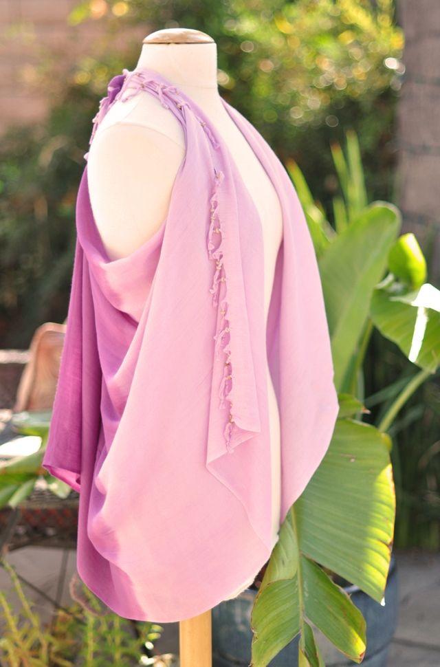 Модный жилет из шарфа (DIY) / Узлы / Модный сайт о стильной переделке одежды и интерьера
