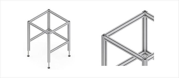 Höhenverstellbare Tischuntergestell TQ für Montagearbeitsplätze – Ergoswiss AG