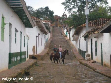 """View from below in Barichara, named the """"Prettiest Town in Colombia"""""""