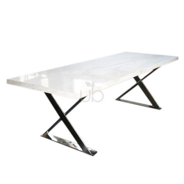 CaesarStone Dining Crossover Table | CaesarStone Dining Tables |  CaesarStone | The Urban Balcony