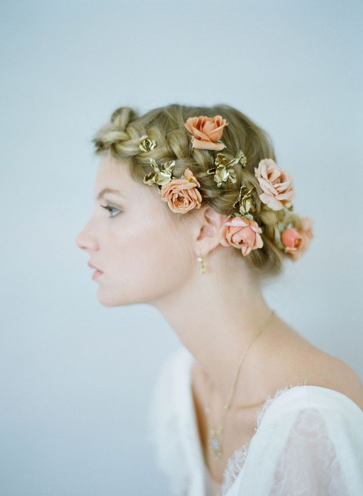 Bridal Hairstyle With Rose : 251 best images about bridal hairstyles on pinterest