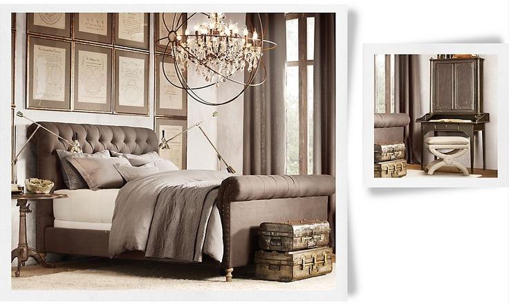Bedroom Inspiration Restoration Hardware