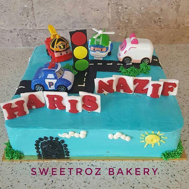 "Happy birthday HARIS NAZIF Semoga menjadi anak yg soleh kebanggaan ayah dan ibu  Haris turns 6 with a Robocar poly themed cake Cake : Chocolate-Vanilla Size : 10""  Thank you Max for the order Hope Haris loves it  #sweetrozbakery #sweetrozcake #sweetrozkitchen #tempahkek #tempahkekbangi #bandarbarubangi #bangi #kajang #putrajaya #jalanreko #bazaarpaknilcafe #robocarpoli #robocar #kidsbirthday #birthdaycake #harijadi #birthday #birthday party #eventplanner jalanreko #kajang #kidsbirthday…"